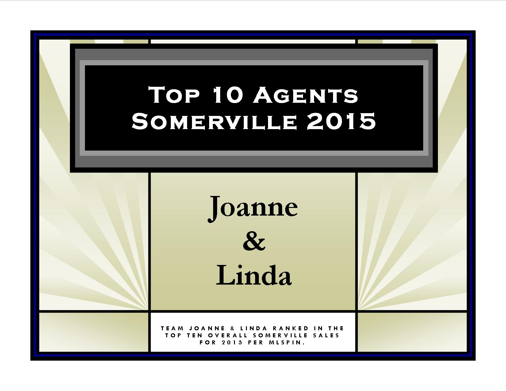 Top 10 Agents Somerville 2015