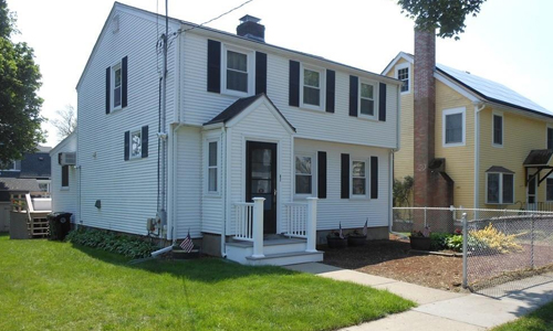 Detached White Colonial home sold in Watertown, MA