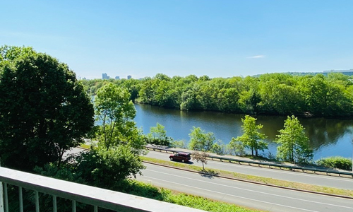 balcony view of the Charles River in Watertown