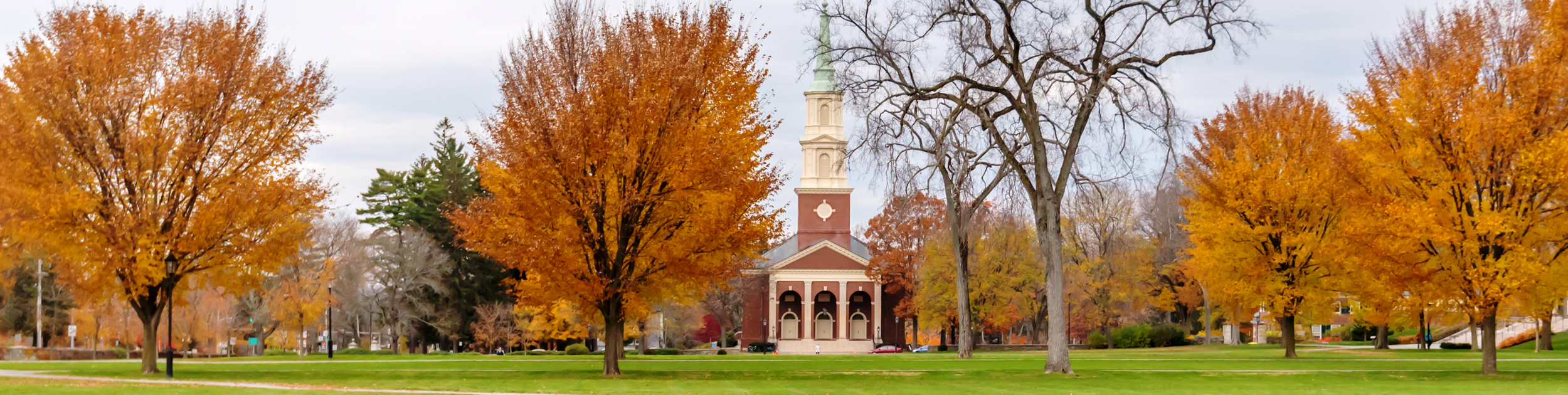 view of Phillips Academy in andover ma in the Fall