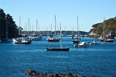 Boating in Manchester-by-the-sea Harbor