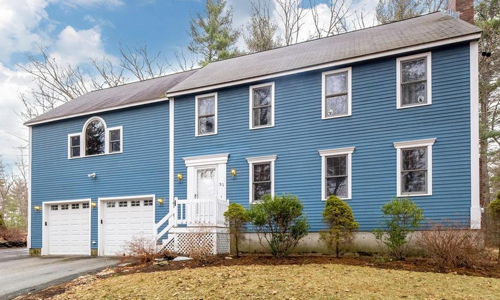 Detached Gray Colonial for sale - exterior shown