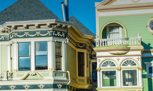 two classic victorian style homes