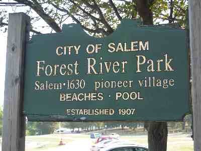 Salem MA park ocean view