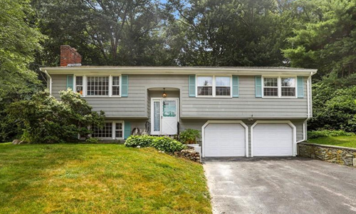 Detached Split Entry home for sale in Framingham, MA - exterior of property shown