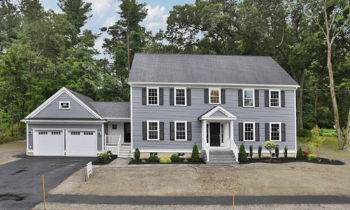 exterior view of Detached Gray Colonial