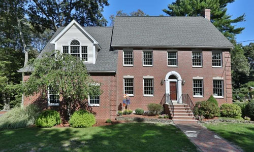 exterior view of Detached Brick Colonial