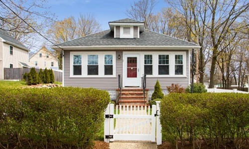 Detached Grey Ranch, Bungalow for sale in Reading, MA - exterior of home shown