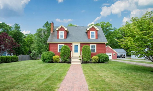 Detached Red Cape for sale in Wakefield, MA - exterior of property shown