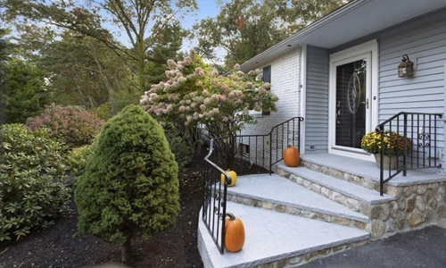 Three bedroom ranch for sale in Andover, MA - exterior of home shown