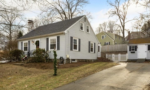 Three bedroom Colonial for sale in Peabody, MA - exterior of home shown