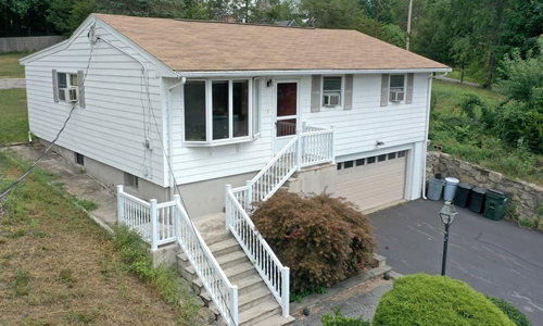 3 bedroom Detached White Ranch for sale in Amesbury, MA - Lake Attitash Beach access - exterior of home shown