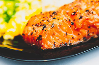 Picture of Baked Salmon on Plate