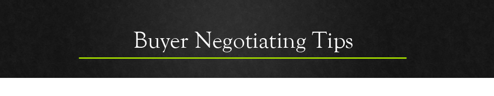 Buyer Negotiating Tips