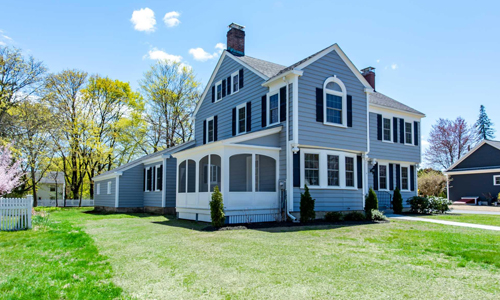 Three bedroom Colonial style home sold in Dover NH - exterior of of home shown