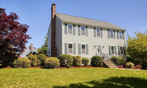 Detached Beige Colonial for sale in Mansfield, MA