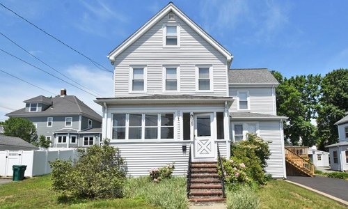 Detached Gray Colonial for sale in Norwood, MA