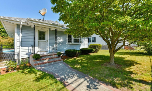 Three bedroom ranch for sale in Dedham, MA
