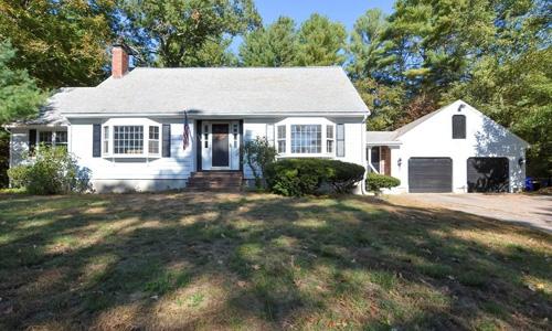 Three bedroom Cape for sale in Taunton, MA - exterior of home shown