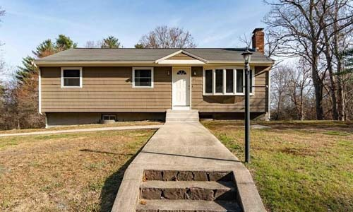 Three bedroom Ranch for sale in Wrentham, MA - exterior of home shown