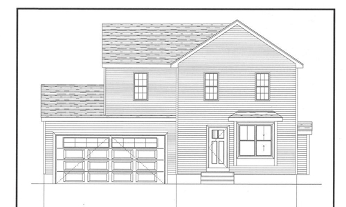 Three bedroom Colonial for sale in Foxboro, MA - exterior of home shown
