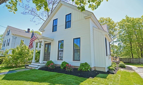 Detached White Colonial for sale in Westborough - exterior of home shown