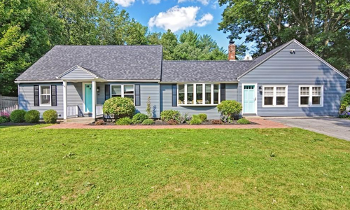 Detached Blue Cape for sale in Westminster, MA - exterior of home shown