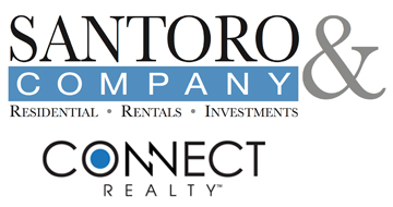 Santoro and Company logo with Connect Realty logo