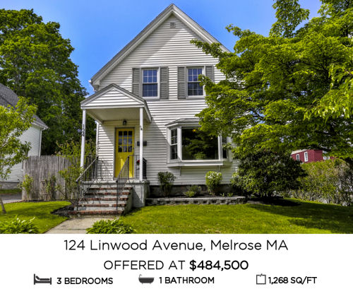 Featured Home for Sale - 124 Linwood Avenue, Melrose MA