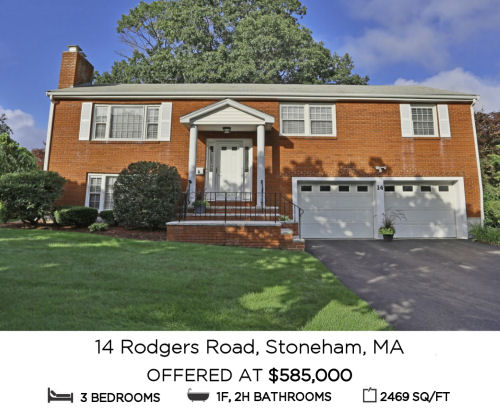 Featured Home for Sale - 14 Rodgers Road, Stoneham MA