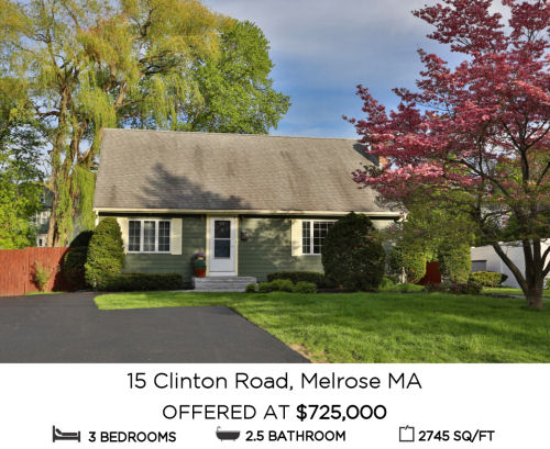 Featured Home for Sale - 15 Clinton Road, Melrose, MA - The Kim Perrotti Team