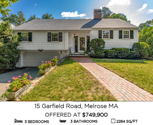 Featured Home for Sale - 15 Garfield Road, Melrose MA