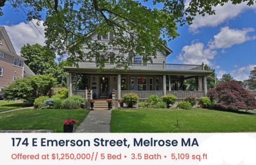 Featured Home for Sale - 174 East Emerson Street, Melrose MA - The Kim Perrotti Team