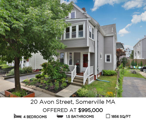 Featured Home for Sale - 20 Avon Street, Somerville MA
