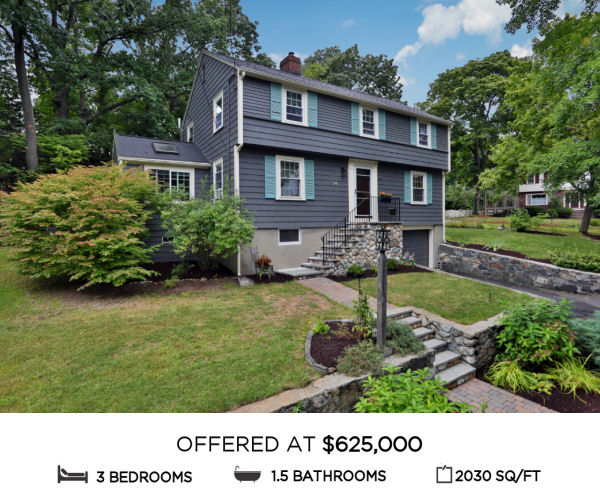 Featured Home for Sale - 24 Coolidge Road, Melrose MA