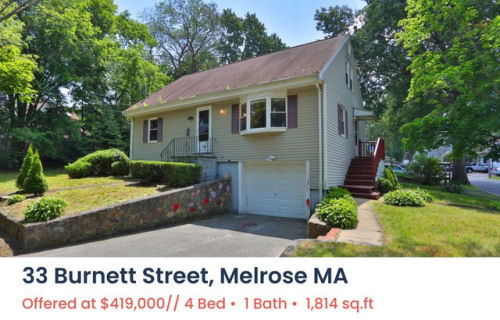 Featured Home for Sale - 33 Burnett Street, Melrose MA - The Kim Perrotti Team