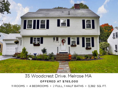 Featured Home for Sale - 35 Woodcrest Drive, Melrose MA