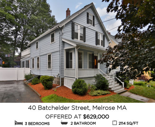 Featured Home for Sale - 40 Batchelder Street, Melrose, MA - The Kim Perrotti Team