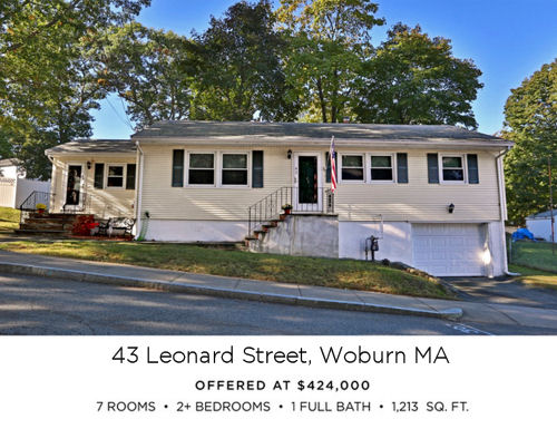 Featured Home for Sale - 43 Leonard Street, Woburn MA - The Kim Perrotti Team