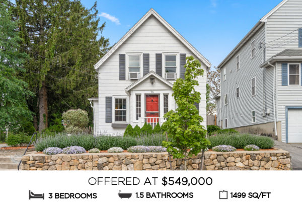 Featured Home for Sale - 46 Spear Street, Melrose MA