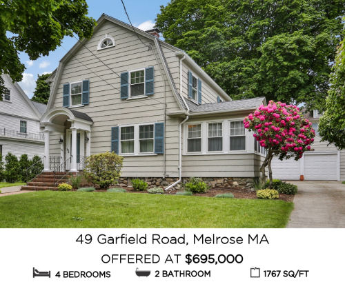 Featured Home for Sale - 49 Garfield Road, Melrose MA