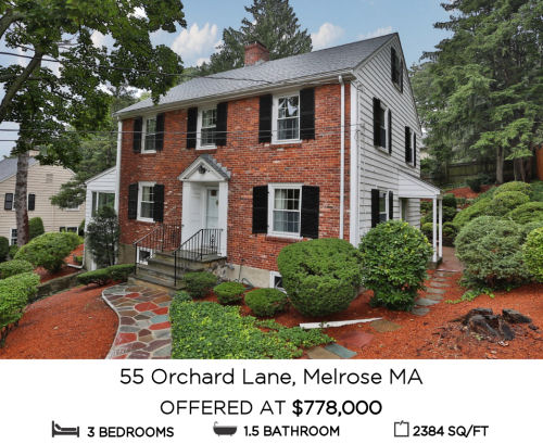 Featured Home for Sale - 55 Orchard Lane, Melrose MA