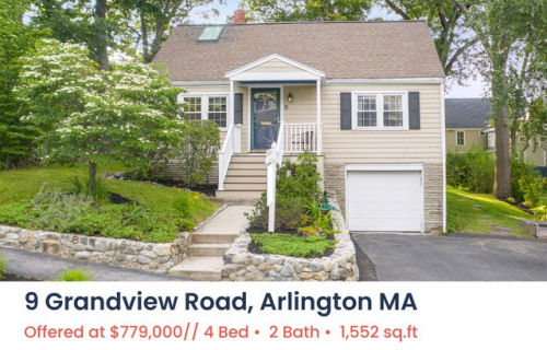 Featured Home for Sale - 9 Grandview Road, Arlington MA