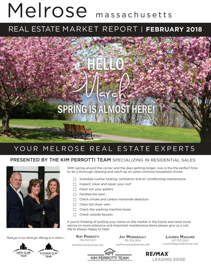 Melrose MA Real Estate Market Report - March 2018
