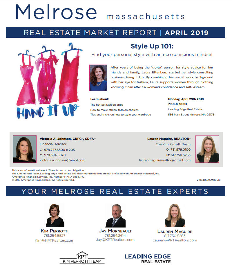 Melrose MA Real Estate Market Report - April 2019 p1