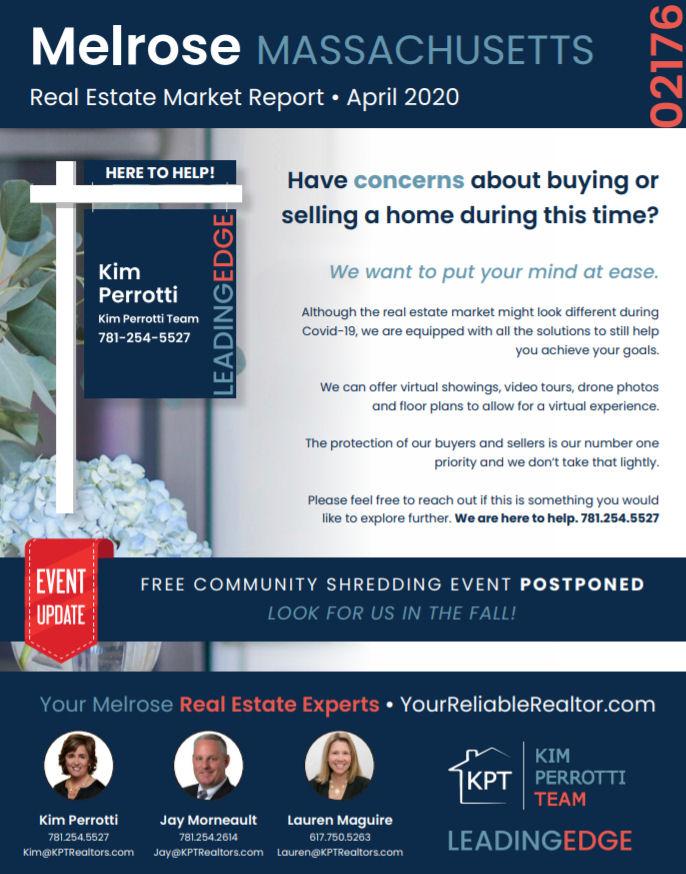 Melrose MA Real Estate Market Report - April 2020
