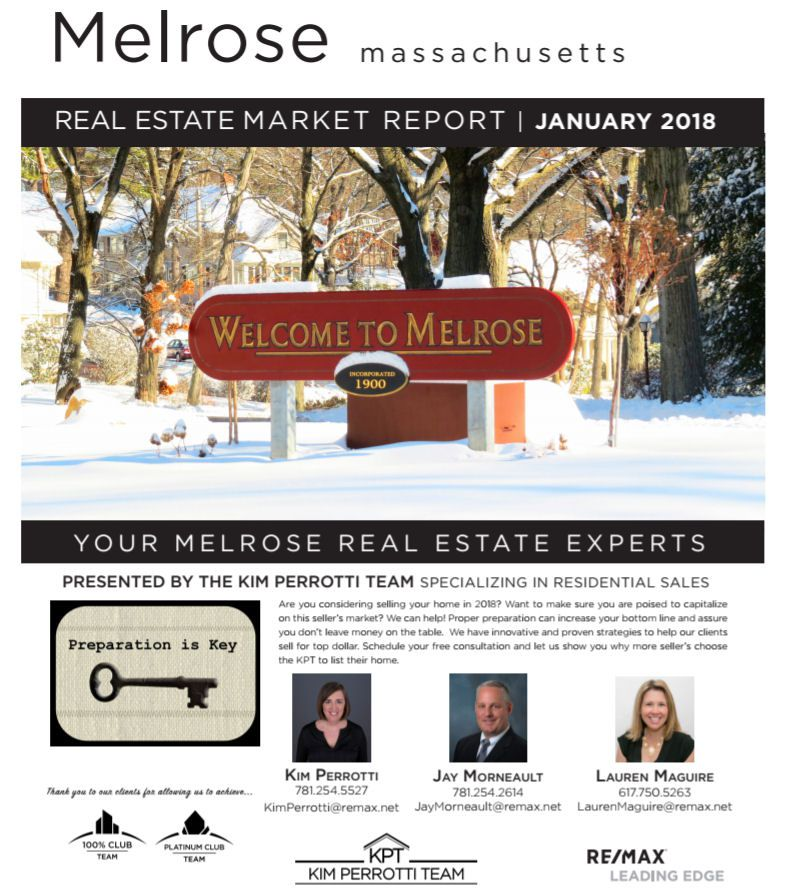 Melrose MA Real Estate Market Report - January 2018 p1