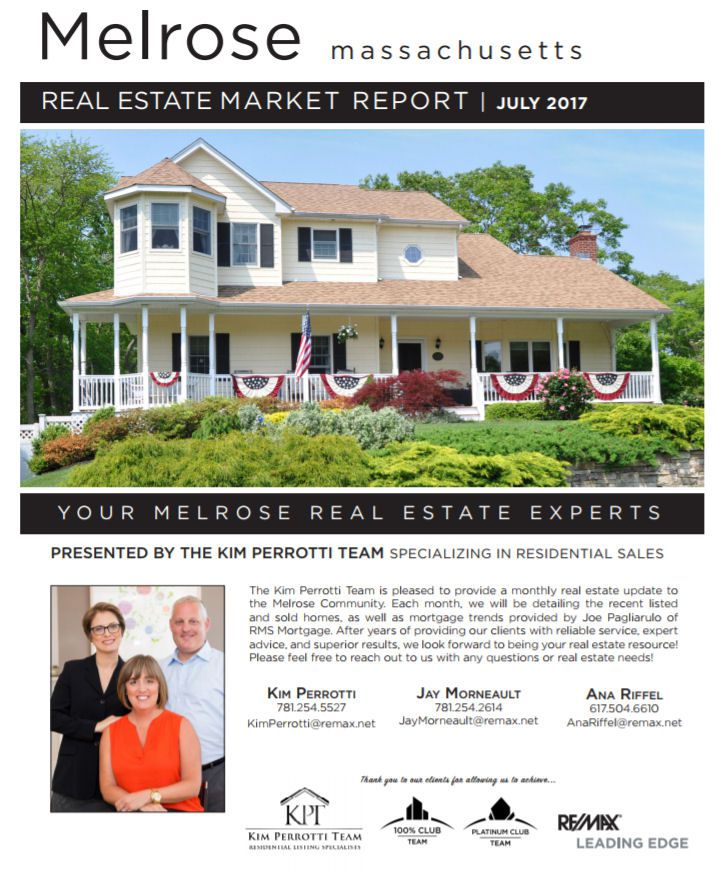 Melrose MA Real Estate Market Report July 2017 p1