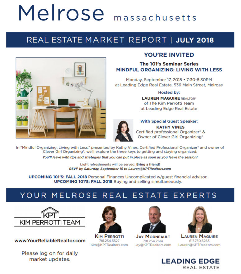 Melrose MA Real Estate Market Report - July 2018 p1