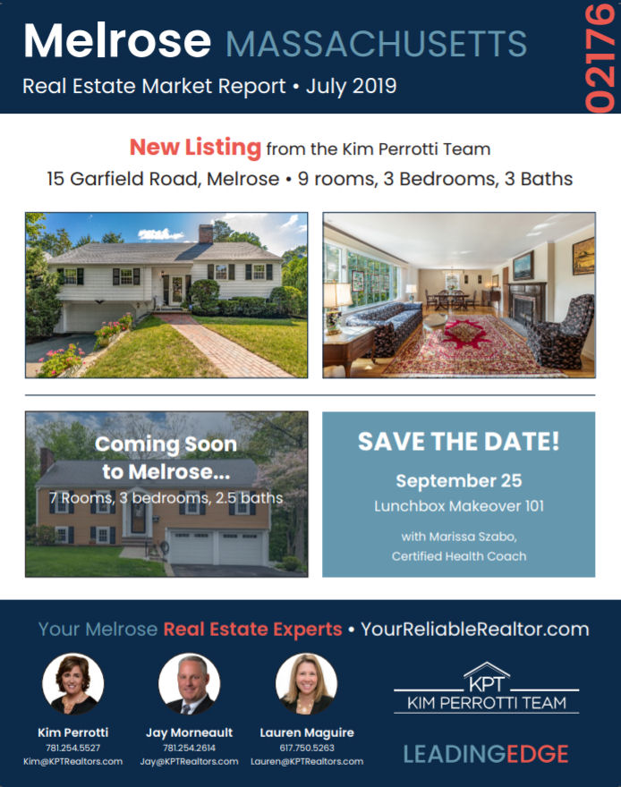 Melrose MA Real Estate Market Report - July 2019